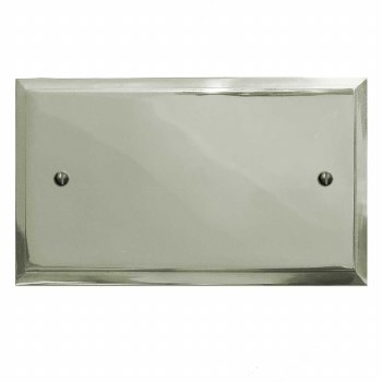 Mode Double Blank Plate Polished Nickel