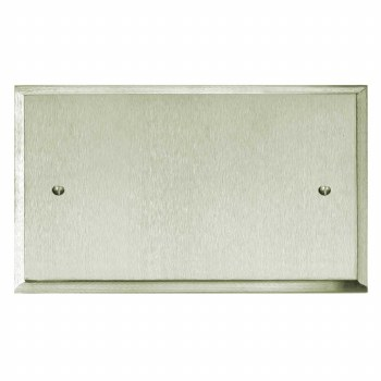 Mode Double Blank Plate Satin Nickel