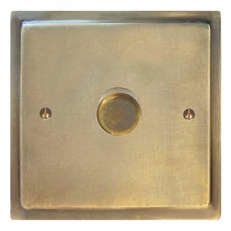 Mode Dimmer Switch 1 Gang Antique Satin Brass