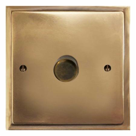 Mode Dimmer Switch 1 Gang Hand Aged Brass