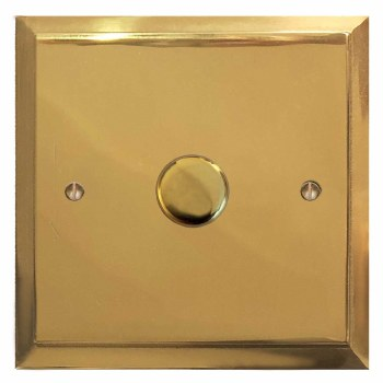 Mode Dimmer Switch 1 Gang Polished Brass Lacquered