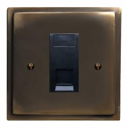 Mode Telephone Socket Secondary Dark Antique Relief
