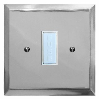 Mode Fused Spur Connection Unit 13 Amp Polished Chrome & White Trim