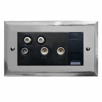 Mode Sky+ Socket Polished Chrome & Black Trim