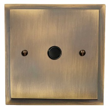 Mode Flex Outlet Antique Brass Lacquered