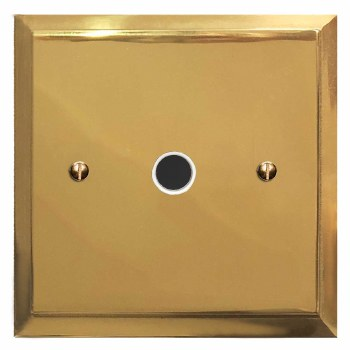 Mode Flex Outlet Polished Brass Lacquered & White Trim