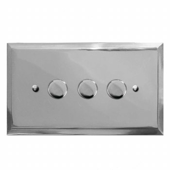 Mode Dimmer Switch 3 Gang Polished Chrome