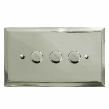 Mode Dimmer Switch 3 Gang Polished Nickel