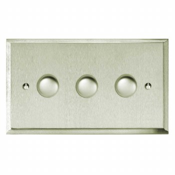 Mode Dimmer Switch 3 Gang Satin Nickel