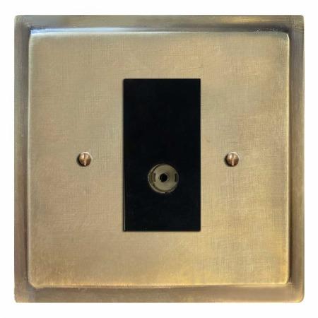 Mode TV Socket Outlet Antique Satin Brass