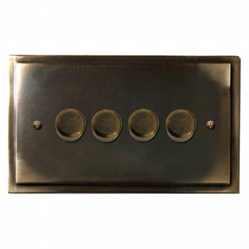 Mode Dimmer Switch 4 Gang Dark Antique Relief