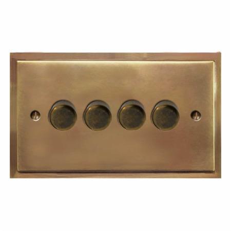 Mode Dimmer Switch 4 Gang Hand Aged Brass