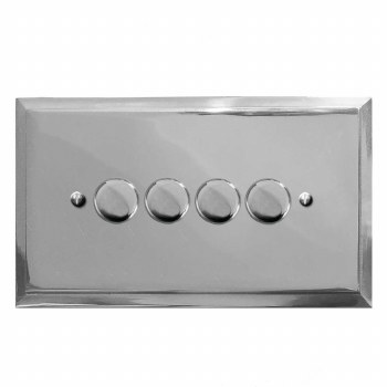 Mode Dimmer Switch 4 Gang Polished Chrome
