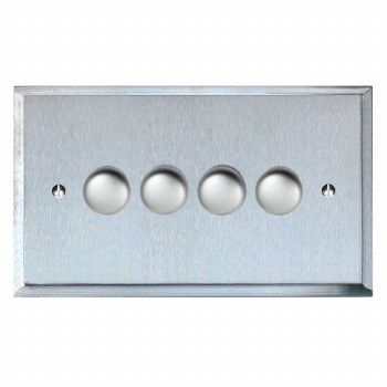 Mode Dimmer Switch 4 Gang Satin Chrome