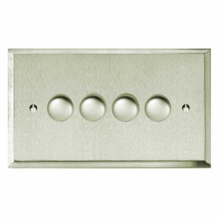 Mode Dimmer Switch 4 Gang Satin Nickel