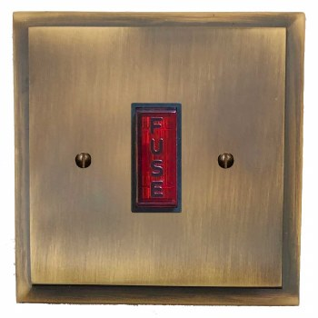 Mode Fused Spur Connection Unit Illuminated Indicator Antique Brass Lacquered