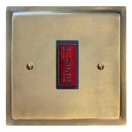 Mode Fused Spur Connection Unit Illuminated Indicator Antique Satin Brass