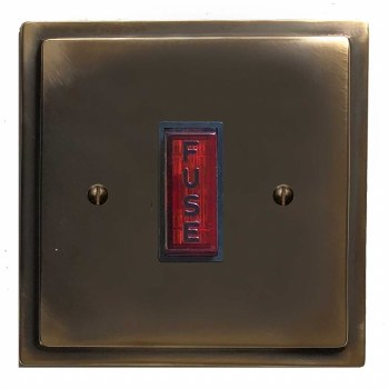 Mode Fused Spur Connection Unit Illuminated Indicator Dark Antique Relief