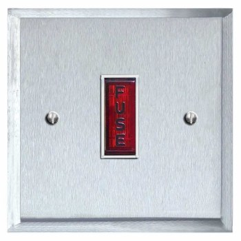 Mode Fused Spur Connection Unit Illuminated Indicator Satin Chrome & White Trim