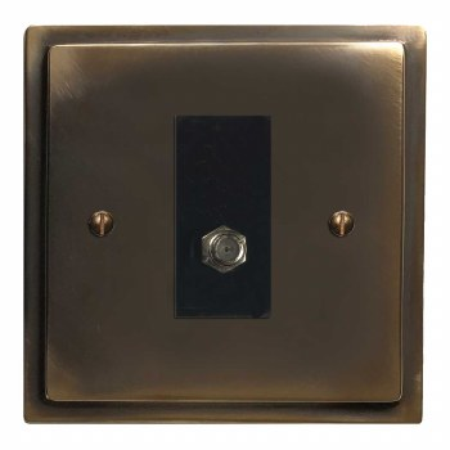 Mode Satellite Socket Dark Antique Relief