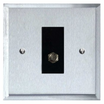 Mode Satellite Socket Satin Chrome & Black Trim