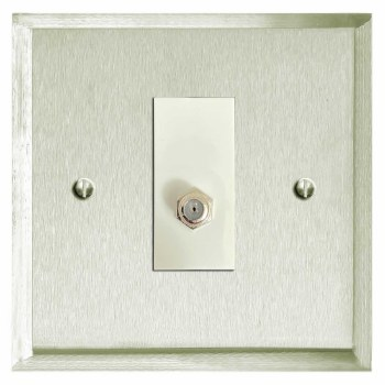 Mode Satellite Socket Satin Nickel