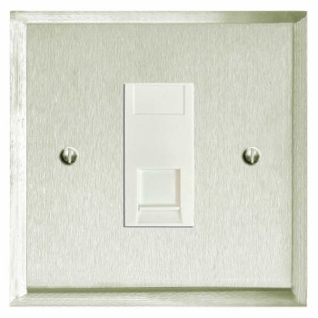 Mode RJ45 Socket CAT 5 Satin Nickel