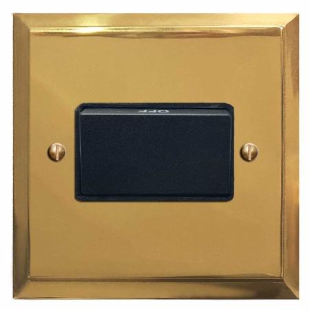 Mode Triple Pole Fan Isolator Polished Brass Lacquered & Black Trim