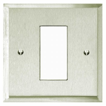 Mode Plate for Modular Electrical Components 50x25mm Satin Nickel