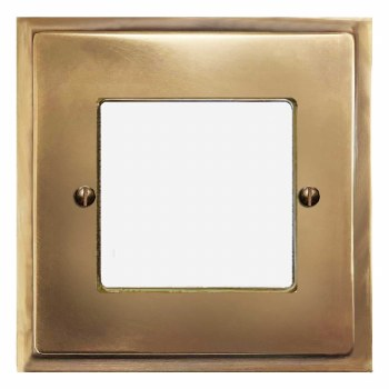 Mode Plate for Modular Electrical Components 50x50mm Hand Aged Brass