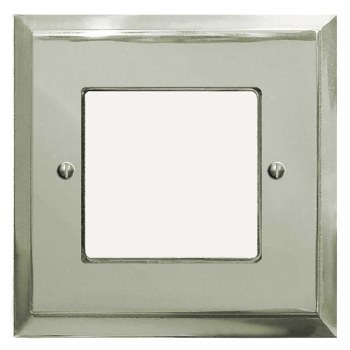 Mode Plate for Modular Electrical Components 50x50mm Polished Nickel