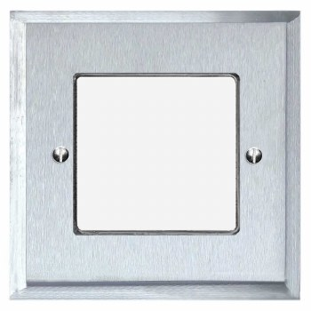 Mode Plate for Modular Electrical Components 50x50mm Satin Chrome