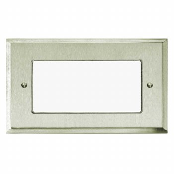 Mode Plate for Modular Electrical Components 50x100mm Satin Nickel