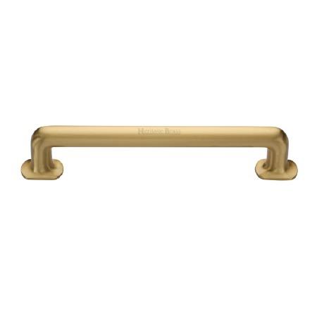 Heritage Traditional Pull Handle V1376 330 Medium Satin Brass