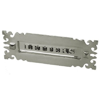 Gothic Letter Plate Polished Nickel 300mm