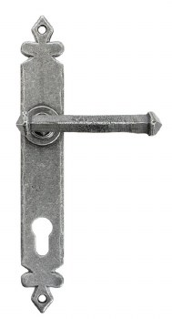 From The Anvil Tudor Espagnolette Door Handles Pewter