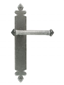 From The Anvil Tudor Door Handles Pewter Patina