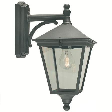 Elstead Turin Outdoor Wall Light Lantern Black