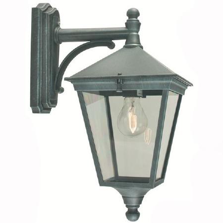 Elstead Turin Outdoor Wall Light Lantern Verdigris
