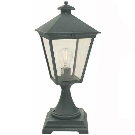 Elstead Turin Pedestal Lantern Light Verdigris