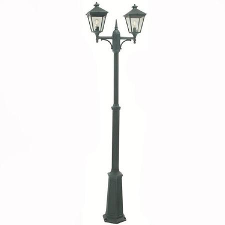 Elstead Turin Twin Light Lamp Post Verdigris