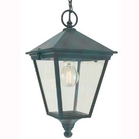 Elstead Turin Chain Lantern Light Verdigris