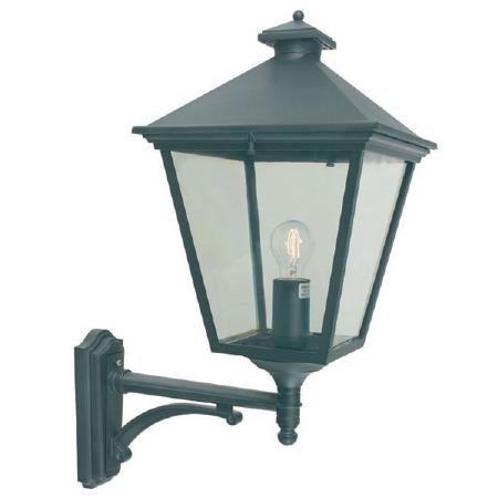 Elstead Turin Grande Large Outdoor Wall Uplight Lantern Black