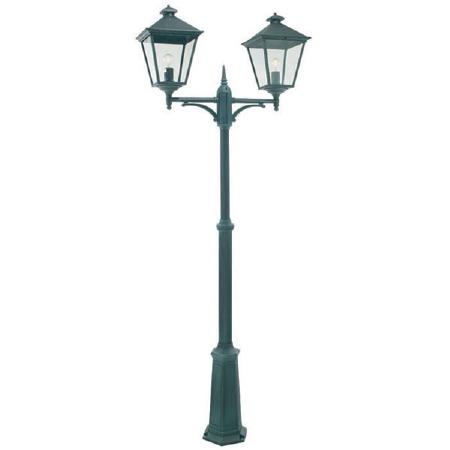 Elstead Turin Grande Twin Light Lamp Post Verdigris