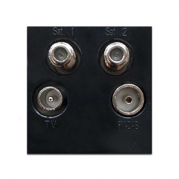 Quadplex Module Black 50x50mm