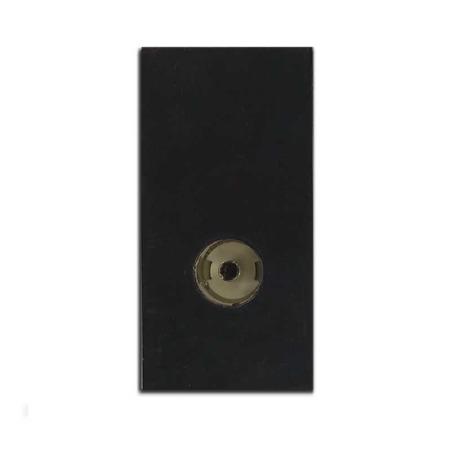 TV Socket Module Isolated Black 50x25mm