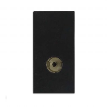 TV Socket Module Non Isolated Black 50x25mm
