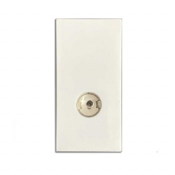TV Socket Module Non Isolated White 50x25mm