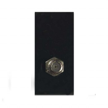 Satellite Socket Module Black 50x25mm