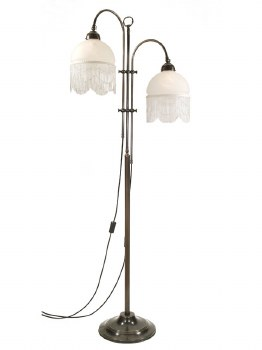 Twin Parallel Floor Lamp with 2 Down Lights